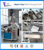 Sistema de extrusora gêmeo cónico plástico do parafuso da linha da extrusão da tubulação dos materiais do pó do PVC/PVC
