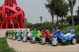 전기 기관자전차가 3명의 바퀴 아이에 의하여 Trike 농담을 한다
