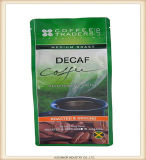 Zoll gedruckter flache Unterseiten-mit Reißverschluss Beutel-Aluminiumfolie-Beutel für das Kaffee-Verpacken