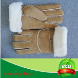 新しい人の100%の実質のウールの羊皮の暖かい冬の手袋
