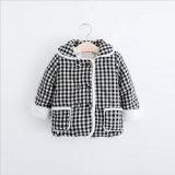 Manteau en coton à manches longues et double poches pour vêtements pour enfants