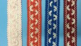 De kleurrijke Leeswijzer van het Kant Handcraft voor de Decoratie van het Gordijn