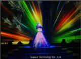 Pantalla flexible de la alta calidad LED para la demostración viva
