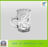 Cuvettes enflées en verre de bière du football avec la verrerie Kb-Hn0322 de traitement
