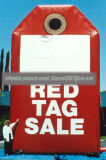 판매를 위한 옥외 팽창식 큰 빨간 꼬리표 복사