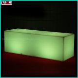Il cubo illuminato cubo lungo defeca la mobilia esterna del patio