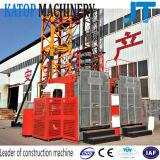 販売のための2017年の中国の最もよい販売Sc100/100の二重ケージ1tの構築のエレベーター
