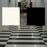 Porcelain Polished White e Black Ceramic Floor Tile