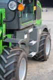 干し草用フォークが付いている小型Zl08車輪のローダー