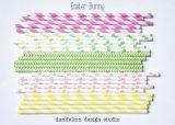 Paja plástica 2016 de la paja del papel rayado de Madeparty de la fábrica con la prueba del FDA