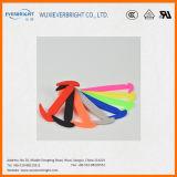 Bleus populaires/jaune/Amazone rouge/colorée n'attachent jamais des lacets de silicones de polyester