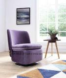 Silla rotatoria de la sala de estar de los apoyabrazos de la tapicería