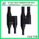 유형 1개 쌍 IP67 H Mc4 연결관