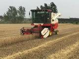 자기 추진 결합 밀 수확기 또는 수확자를 가득 차있 공급하십시오