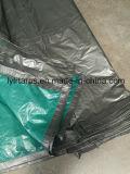 Couverture grise verte de faible puissance de bâche de protection de PE, PE Tarps