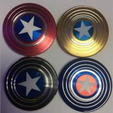 LED Spinner Metal Fidget Spinnerアメリカの大尉