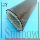 De silicone Met een laag bedekte Brand Sleeving van de Glasvezel in Zwarte 20mm BinnenDiameter