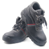 Zapatos de seguridad del cuero de la inyección de la PU con la punta de acero