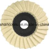 rotella di lana del feltro di 115mm per acciaio inossidabile