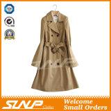 Куртки Outerwear зимы Breasted женщин пальто шанца двойной длиннее