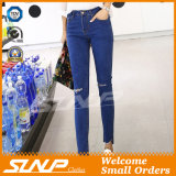 Signora scarna Long Jean Pants Clothes di stirata dell'alta vita