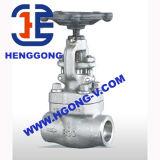 API/DIN saldato ad alta pressione ha forgiato la valvola a saracinesca industriale
