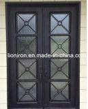 Двери утюга обеспеченностью французских дверей стальные материальные