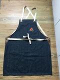 工場綿のウェビングストラップが付いているカスタム頑丈なデニムの台所エプロン