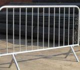 Barrera de control de multitudes galvanizada, Barrera de caminos temporal, Barrera para peatones