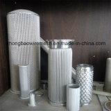Os Ss 304, 316, 316L plissaram a fábrica do filtro em caixa