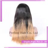 Parrucca bionda brasiliana della parte anteriore del merletto dei capelli umani