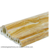 Linea di produzione di pietra di marmo del PVC con la macchina dell'espulsore di profilo
