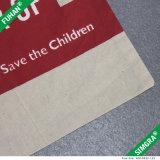 Sacchetto di Tote su ordinazione del cotone della maniglia di marchio