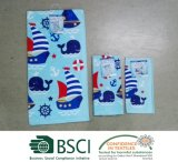 100% Baumwolle Woven Fibre Reactive Printed Velour Towel Set - Sailboats und Whales