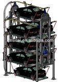 5.5t 4 de Post Hydraulische Lift van de Auto/de Hydraulische Post AutoLift van Parkeren Vier
