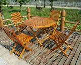접히는 옥외 식사 고정되는 정원 고정되는 나무로 되는 식사 세트 식사 세트 (M-X1054)