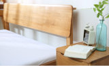 Cama matrimonial de la vendimia americana de madera sólida (M-X3025)