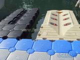 Sistemas del dique flotante de la plataforma del barco