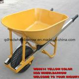 Une brouette de roue de jardin de roue avec le plateau d'acier inoxydable (WB8614)