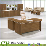 Mesa executiva Desktop curvada do frame de madeira