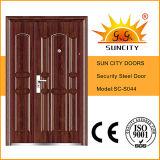 Puerta de acero Puerta de Hierro Puerta de Hierro de Seguridad Precio Imágenes para el hogar (SC-S044)