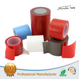 赤いフィルムのアクリルの泡の倍の側面か味方されたテープ