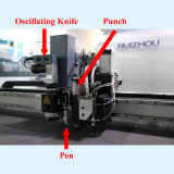 CNC automatico Leather Cutting Machine con Two Heads e Conveyor Belt
