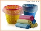Подгоняйте любой мешок погани мешка отброса размера покрашенный LLDPE пластичный