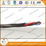 Thhn/PVC, tipo cabo distribuidor de corrente 600V do Tc Vntc 4c12AWG do Gw Tc-Er