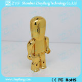 USB Flash Drive di Metal Robot dell'oro con Logo (ZYF1194)