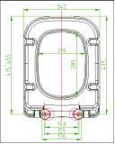 Couverture de siège des toilettes de Duroplast de grand dos de modèle moderne