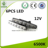 12V 6 LED weiße LED Tagespositionslampe DRL