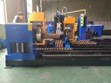 Máquina de estaca nova da câmara de ar do perfil da tubulação do CNC da certificação do Ce do ISO da circunstância com um ângulo chanfrado da exatidão