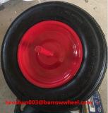 Roda de ar de borracha 350-8 com eixo para carrinho de roda